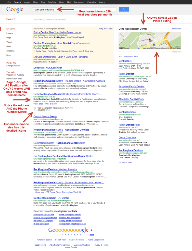Delta Dental – Page 1 in Google in 3 Weeks